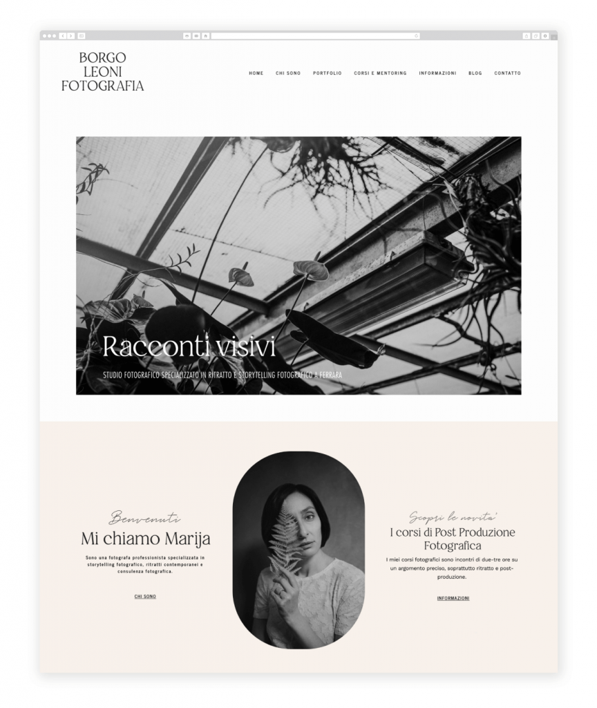 Borgo Leoni Fotografia Photography Studio Flothemes Website