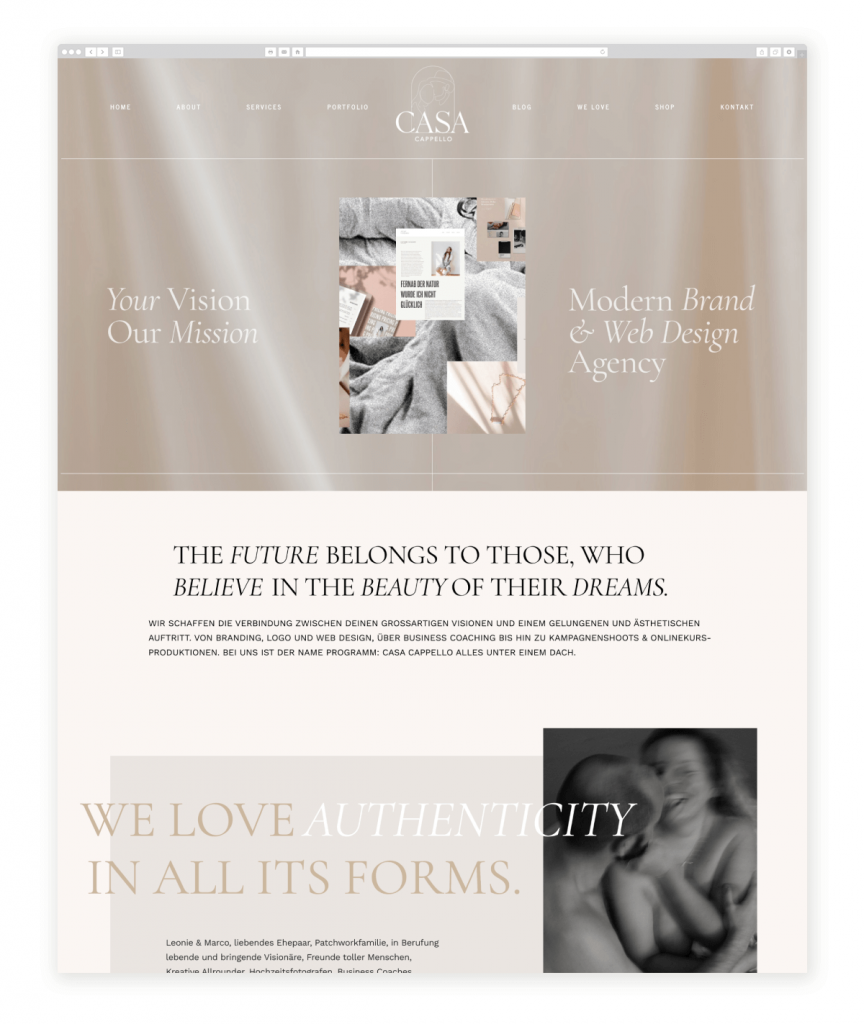 Casa Cappello Brand and Web Design Agency Flothemes Website