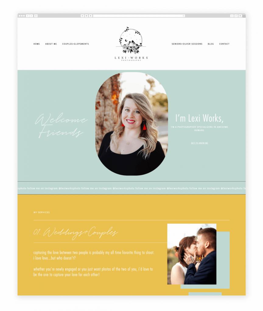 Lexi Works Photography Wedding Couples and Portrait Photographer Flothemes Website
