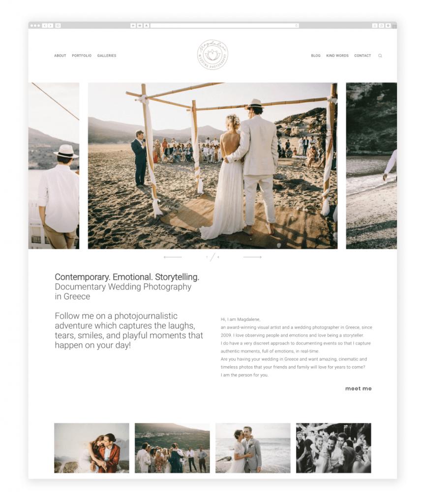 Magdalene Kourti Wedding Photographer from Greece Flothemes photography websites Greece