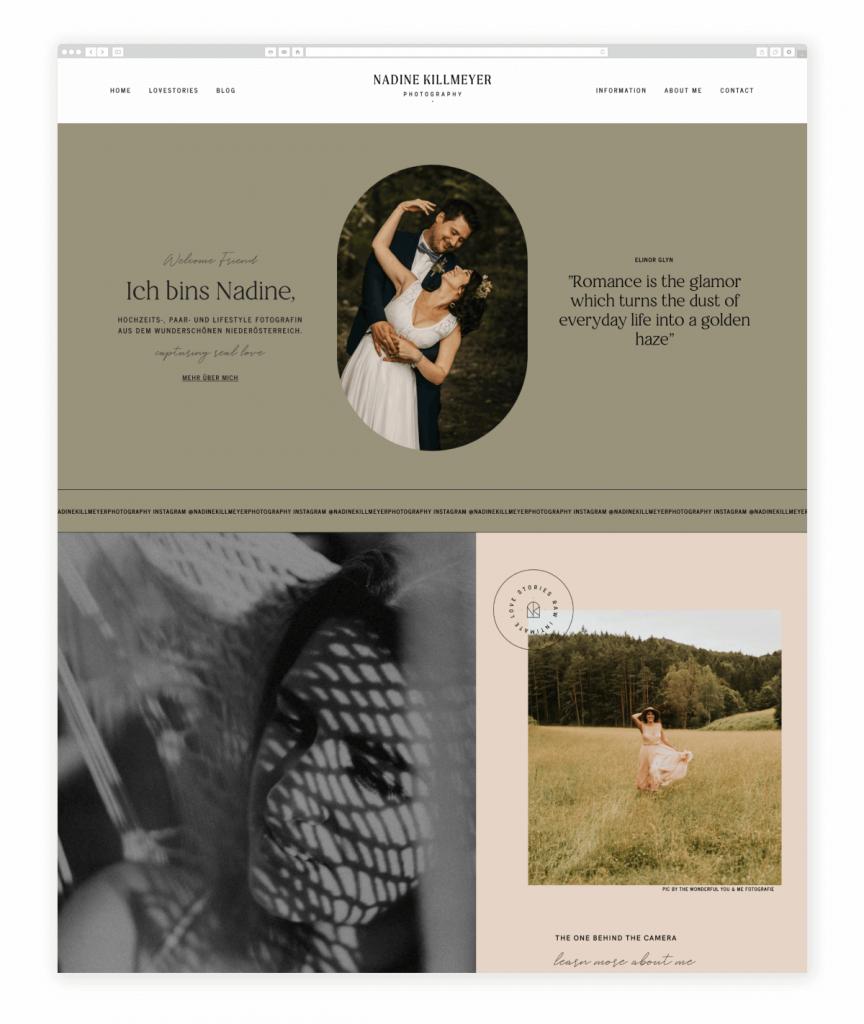 Nadine Killmeyer Wedding Couples and Lifestyle Photographer Flothemes Website