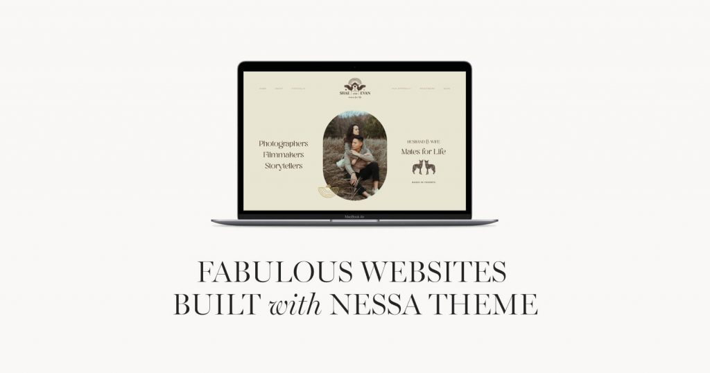 Wordpress Websites built with Nessa theme by Flothemes